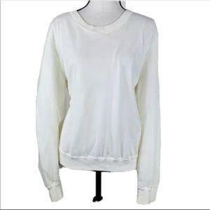 Vince Camuto White Crew neck Sweatshirt Size XL